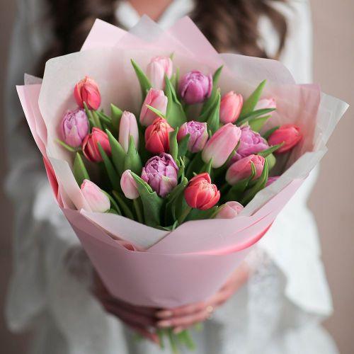 Букет цветов из 21 тюльпана