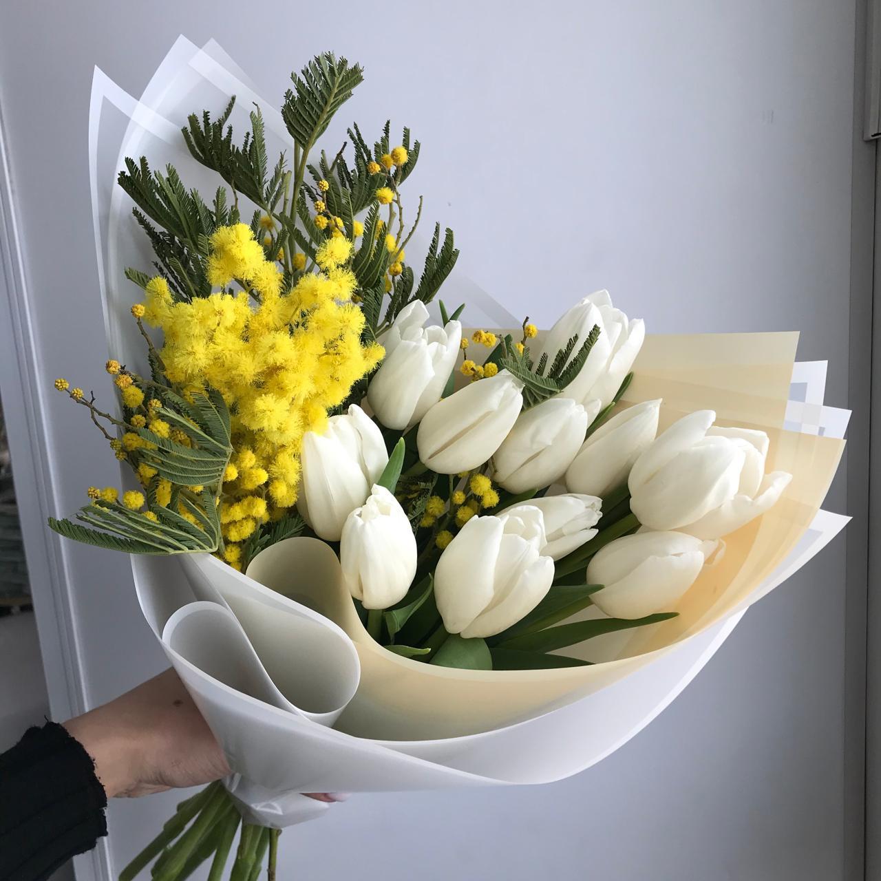 Букет цветов Белый ангел
