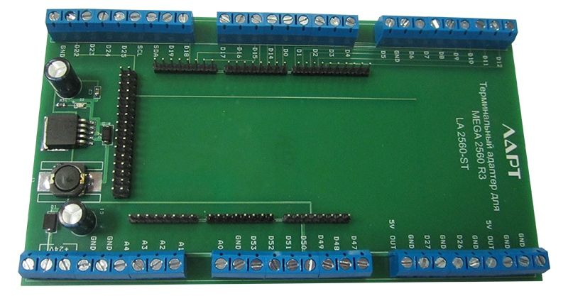 Терминальный адаптер для Arduino Mega2560 на DIN рейку. ЛАРТ LA2560-ST