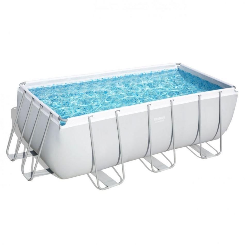 Каркасный прямоугольный бассейн Bestway 56457 (412х201х122) с песочным фильтром