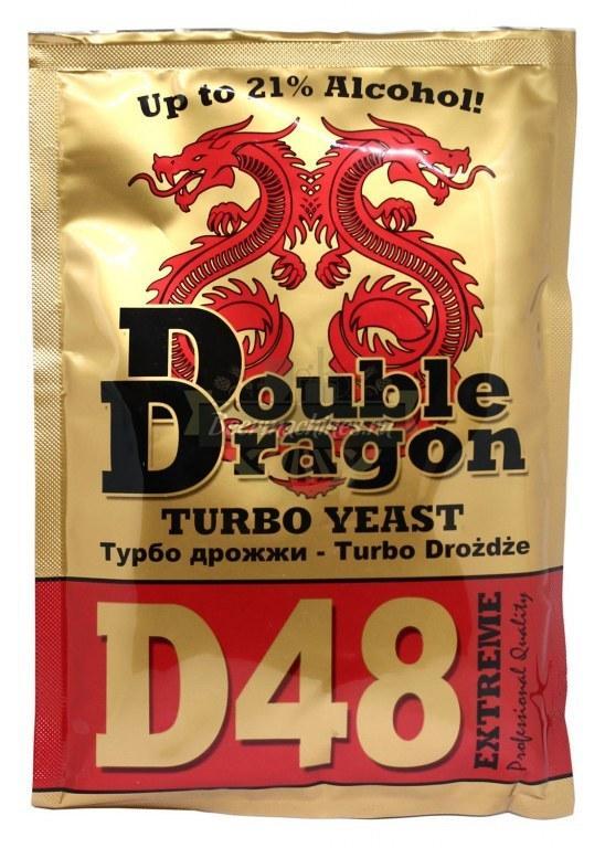Спиртовые турбо дрожжи Double Dragon 48