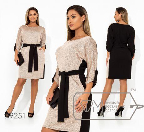 Платье-мини двуцветное 9251
