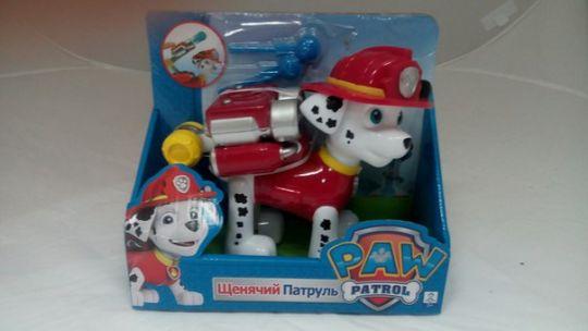 Игрушка Щенячий Патруль (Paw Patrol) МАРШАЛ с водяными стрелами Арт. АК
