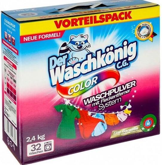 Стиральный порошок Der Waschkonig (цветное белье) 2,4кг