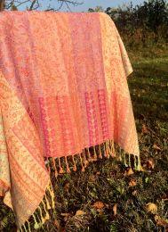 Разноцветная индийская шаль из хлопка (Москва)