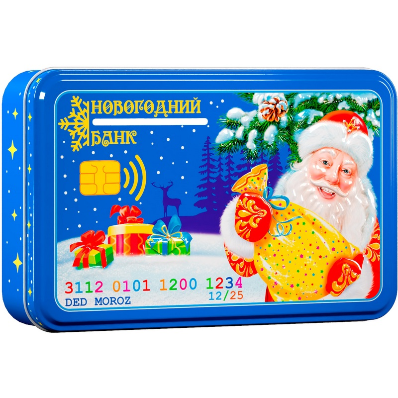 Копилка Новогодний банк 300 грамм