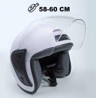 Шлем открытый Jiekai 202 white фото 1