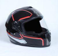 Шлем интеграл Safebet 112 black-red фото 2