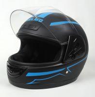 Шлем интеграл Helmo HZF03 BlackMat-Blue фото 3