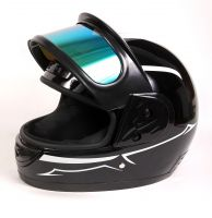 Шлем интеграл Helmo Double Glass Black-Green фото 8