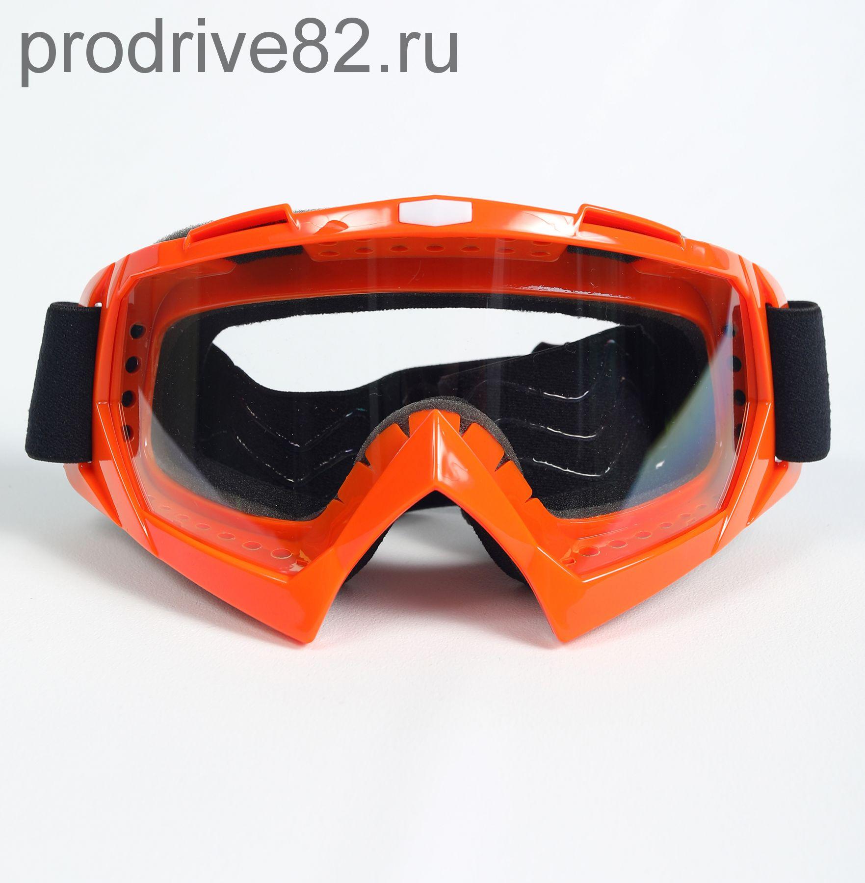 Мото очки М004 Orange