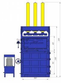 Пресс гидравлический пакетировочный ПГП-45МУ