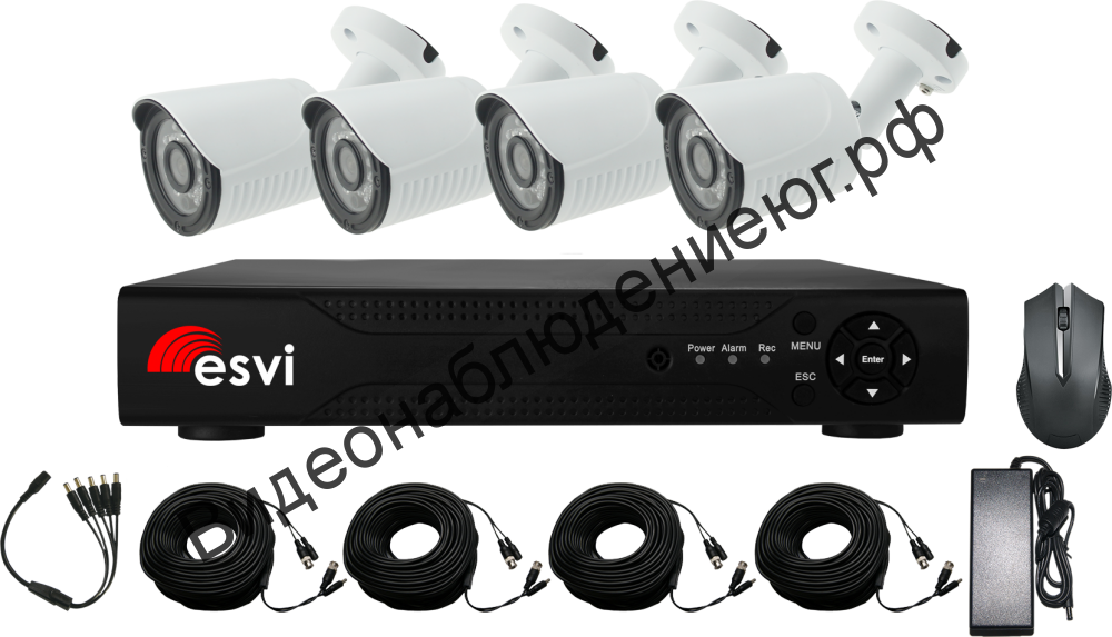 Комплект AHD видеонаблюдения EVK-X4-BQH10B