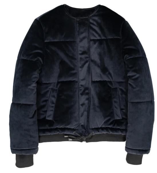 Куртка стеганая велюровая- La Redoute Collections