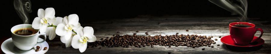 Кухонный фартук BS 51 - Чашка кофе белая и красная