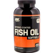 Fish oil Optimum Nutrition 200капсул с кишечнорастворимым покрытием