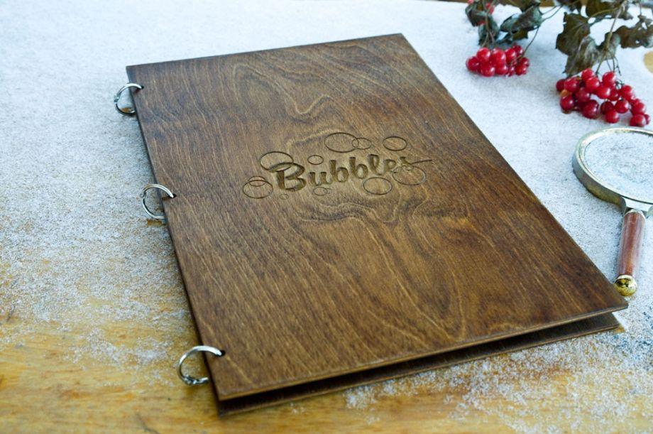 Тетрадь с деревянной обложкой на заказ