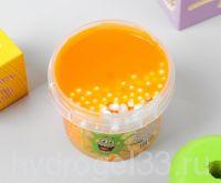 слайм плюх оранжевый