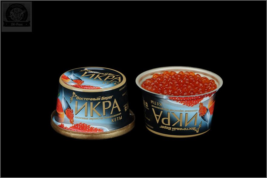 ИКРА ЗЕРНИСТАЯ,КЕТА, МАЛОСОЛЕНАЯ (АЛЮМИНИЕВАЯ БАНКА, 125 ГР.)