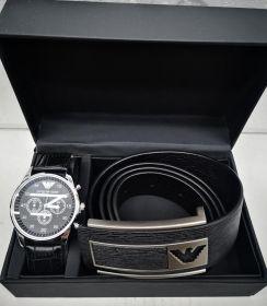 Набор мужской: часы + ремень ARMANI