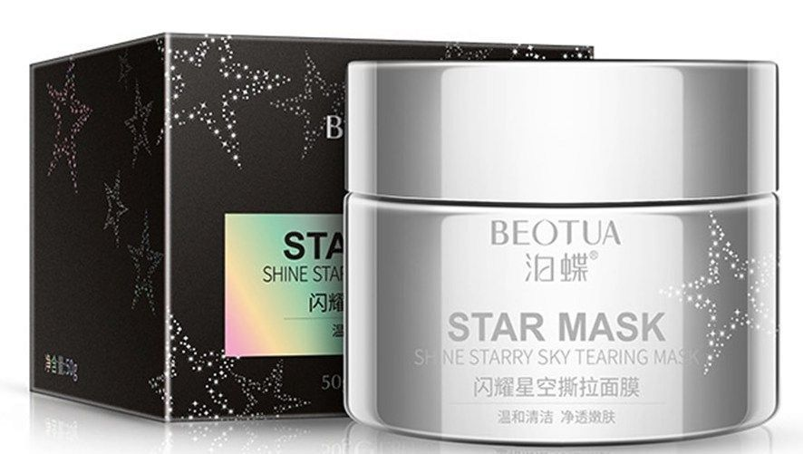 Маска для лица с блестками BEOTUA STAR MASK