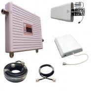 Двухдиапазонный усилитель (Репитер) сигнала Repeater 3G / 4G (2100MHz / 2600MHz) КОМПЛЕКТ С КАБЕЛЕМ И АНТЕННАМИ