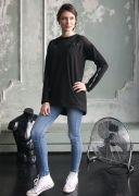 длинная женская футболка