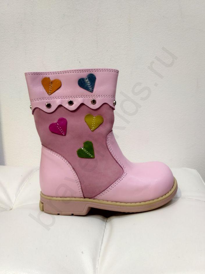 2850 Ortopedia Сапоги Детские (21-25) демисезонные на флисе в розовом цвете