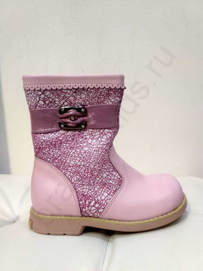 2855 Ortopedia Сапоги Детские (21-25) демисезонные на флисе в розовом цвете