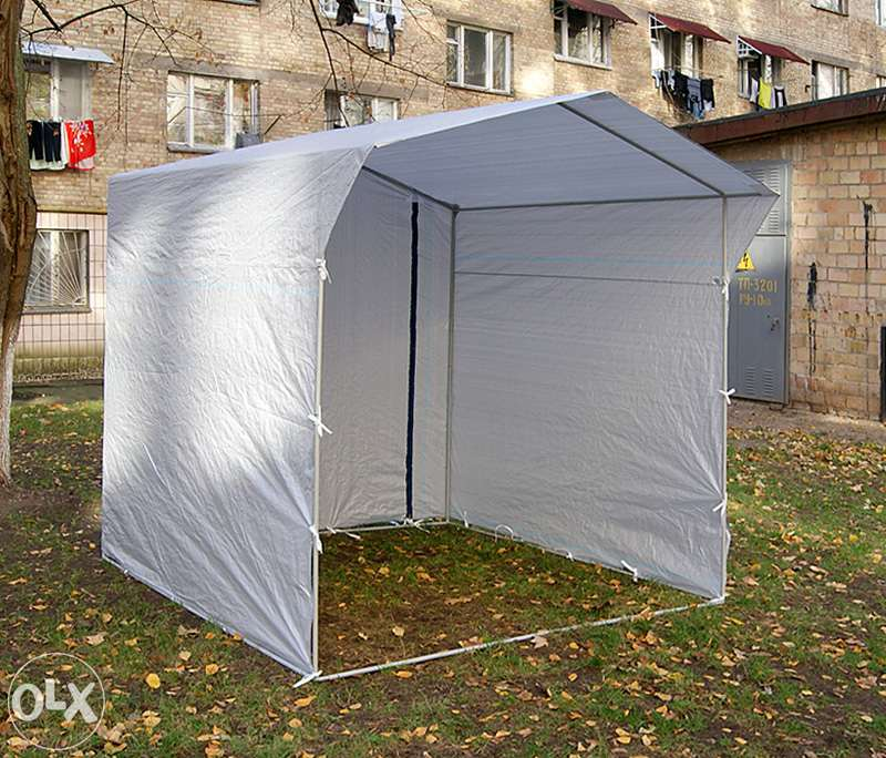 Палатка торговая 2,0 х 2,0, разборная «Домик», белая