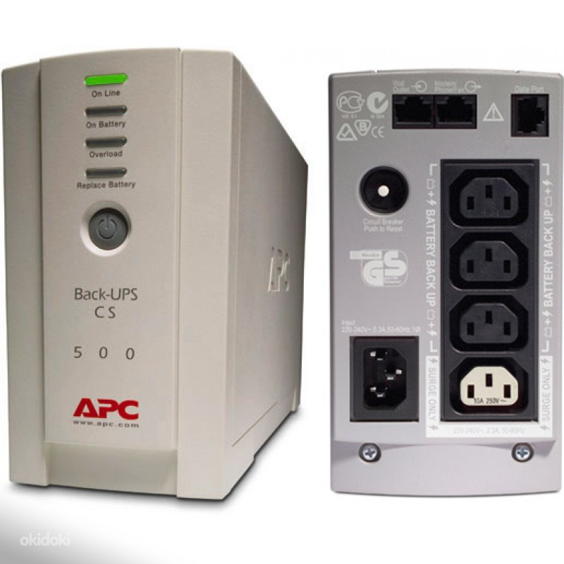 Резервный ИБП APC by Schneider Electric Back-UPS BK500-RS