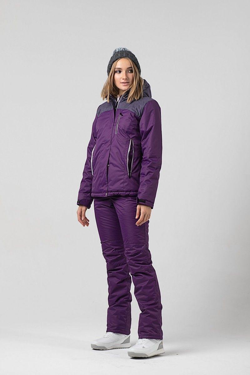 Зимний женский костюм фиолетовый HEIDEN вид2