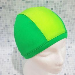 Зеленая/салатовая Текстильная шапочка для плавания