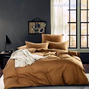 Комплект постельного белья однотонный Светло-коричневый