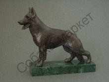 Немецкая овчарка статуэтка Чехия