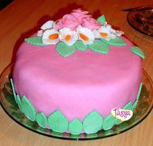 п.Луостари Мурманской обл. Тася Желейный торт Розовые розы