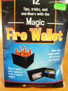 Бумажник с огнем из нат. кожи