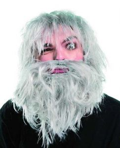 "Парик ""Лохматый старик с бородой"""