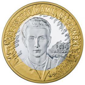 65-я годовщина Варшавского Восстания - поэт Кшиштоф Камиль Бачыньски 10 злотых Польша 2009