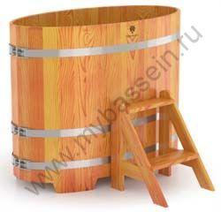 Купель двухместная овальная (лиственница)