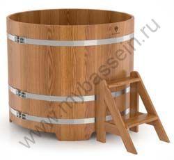 Купель двухместная круглая (дуб)