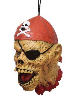 Голова Пирата висящая латексная (30 см)