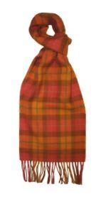 шарф 100% шерсть , коллекция Горец -яркая клетка, расцветка Стэнмор