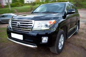 Защита переднего бампера 76 мм (TLCZ-000510) для Toyota Land Cruiser 200 2012