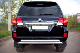 Защита заднего бампера 76х63 мм дуга (LCZ-000204) для Toyota Land Cruiser 200 2012