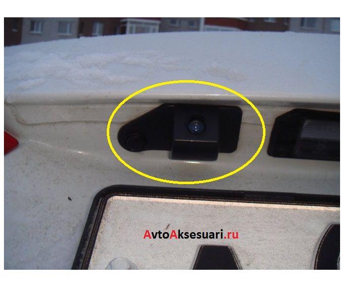 Штатная камера заднего вида для Mitsubishi ASX 2010-2017