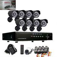 Система видеонаблюдения. 8 каналов+ 8 ик камер