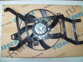 Вентилятор охлаждения в сборе (Logan) на авто без кондиционера Finord FN-9264 аналог 8200779073
