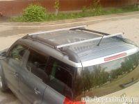 Багажник на крышу Skoda Yeti, Атлант, прямоугольные дуги на рейлинги
