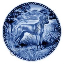 Родезийский риджбек тарелка фарфор Дания